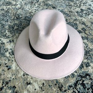 NWT Missguided Pink Felted Fedora Hat